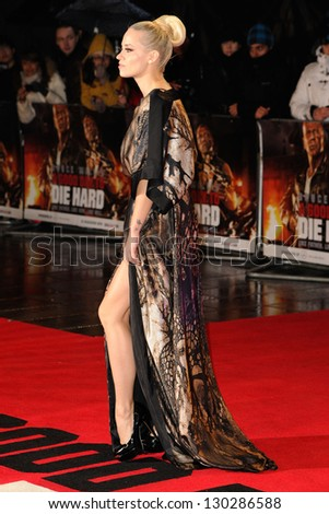 Kymberley Wyatt arriving for the 'A Good Day to Die Hard' UK Premiere, Empire Leicester Square, London. 07/02/2013 Picture by: Steve Vas