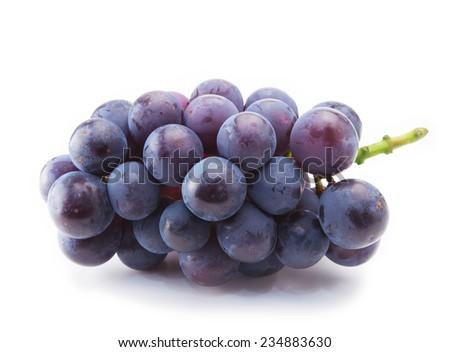 Kyoho grapes (giant mountain grapes) isolated on white. - stock photo