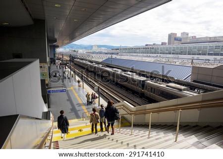 KYOTO, JAPAN - NOVEMBER 05, 2014: JR Kyoto station in Kyoto, Japan. - stock photo