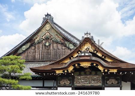 kyoto temple - stock photo