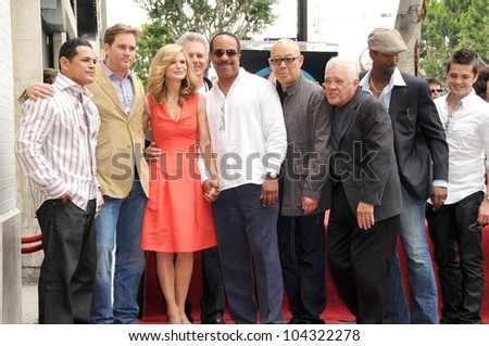 Kyra Sedgwick and the cast of 'The Closer'  at the ceremony honoring Kyra Sedgwick with a star on the Hollywood Walk of Fame. Hollywood Boulevard, Hollywood, CA. 06-08-09