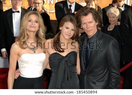 Kyra Sedgwick, guest, Kevin Bacon at 15th Annual Screen Actors Guild SAG Awards - Arrivals, Shrine Auditorium, Los Angeles, CA, January 25, 2009