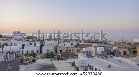 KYRENIA/NORTHERN CYPRUS - AUGUST 29 2015: View to Kyrenia town. Northern Cyprus
