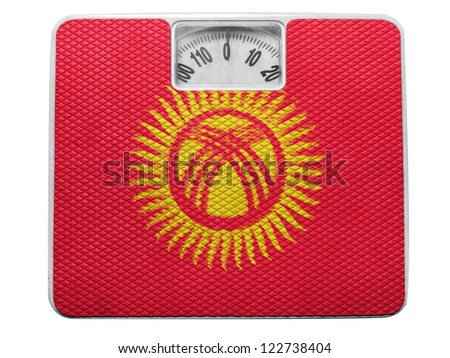 Kyrgyzstan flag  painted on balance