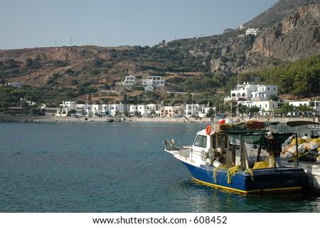 Kythera harbour, Greece - stock photo