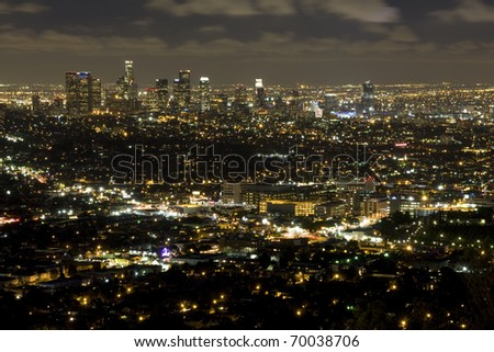 L.A view at night