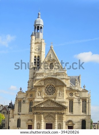 L'Eglise St-Etienne-du-Mont, Paris, France