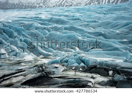 l glacier  Views around Iceland, Northern Europe in winter with snow and ice