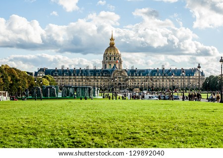 L'hotel national des Invalides (The National Residence of the Invalids), Paris, France - stock photo