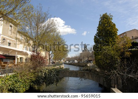 L'Isle sur La Sorgue, little town in the Vaucluse, France