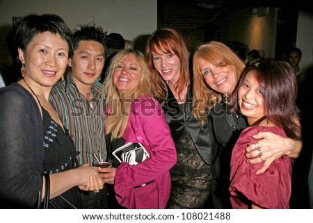"L-R Lisa Gao, Cendra Martel, Jenny McShane, Marilyn Vance and Serena Guam  at the party celebrating the opening night of the play ""In Heat"". The Lost Studio, Hollywood, CA. 06-15-08"