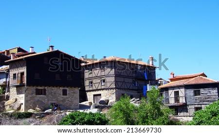 La Alberca,Salamanca, Spain - stock photo