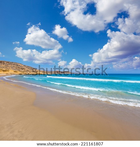 la carolina beach in Murcia  at Mediterranean sea of spain