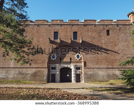 La Cittadella ancient military barracks now decommissioned and turned into Museo Nazionale Di Artiglieria meaning National Museum of Artillery in Turin, Italy
