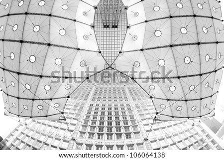 La Defence abstract view in Paris France - stock photo