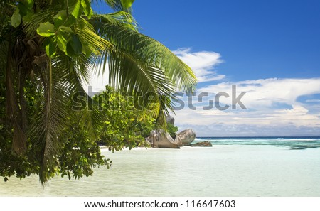 La Digue island, Seyshelles, Anse Source d'Argent. The island of dreams for a rest and relaxation.