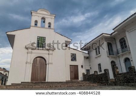 La Ermita church in colonial city Popayan, Colombia - stock photo