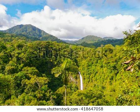 La Fortuna de San Carlos waterfall, Arenal volcano national park, Costa Rica - stock photo