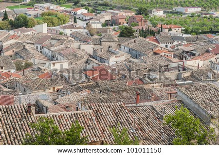La Fresneda village general view in Teruel, Spain's Aragon Province