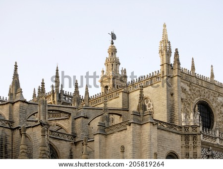 La Giralda, tower of the cathedral of Seville in Spain