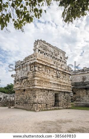 La Iglesia in the Chichen Itza Mayan ruins in Yucatan, Mexico - stock photo