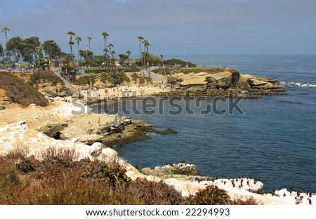 La Jolla Cove in San Diego during Summer - stock photo