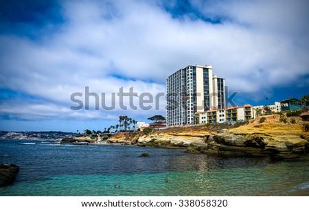 La Jolla Cove.  San Diego California USA - stock photo