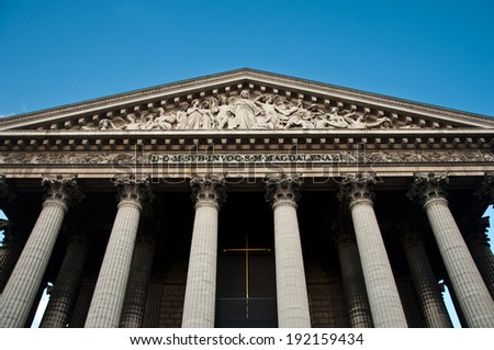 La madeleine church in Paris