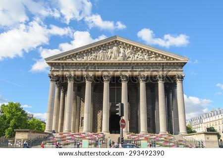La Madeleine church in Paris, France - stock photo