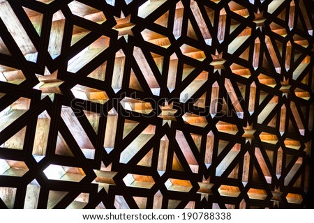 La Mezquita Window - Cordoba, Spain - stock photo