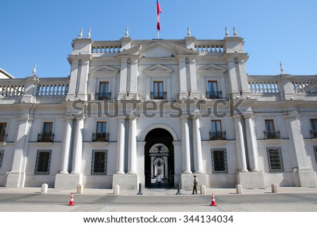 La Moneda Presidential Palace - Santiago - Chile - stock photo