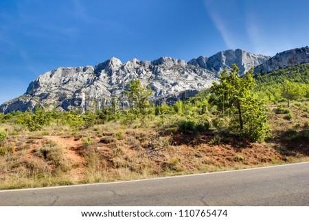 La Montaigne Ste. Victoire (Aix-en-Provence) - stock photo