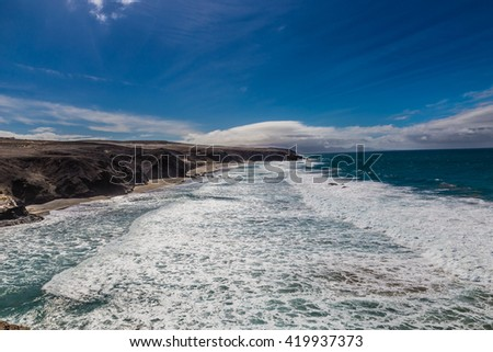 La Pared Volcanic Beach - Fuerteventura, Canary Islands, Spain