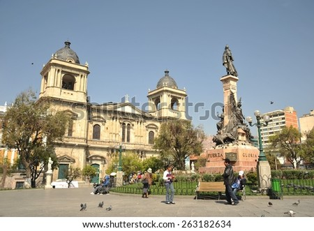 LA PAZ, BOLIVIA - SEPTEMBER 12, 2010: The area of Murilee in La Paz.The actual capital of Bolivia, where most of the state institutions and the residence of the President of the country. - stock photo