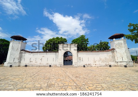 La Polvora Fort, built in 1748. First was used as a gunpowder, fort, later as a jail. Nowadays is a museum - stock photo