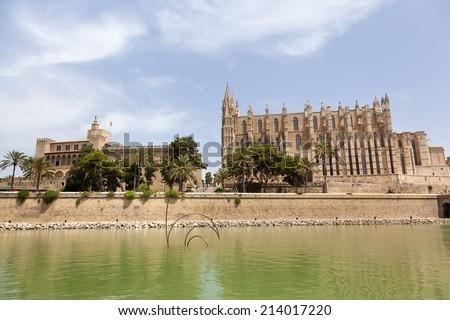 La Seu cathedral in Palma de Mallorca, Spain - stock photo