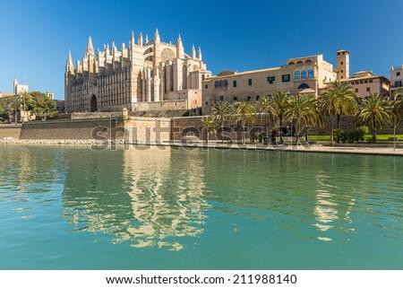La Seu the cathedral of Palma de Mallorca, Spain - stock photo