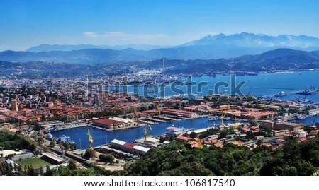 La Spezia, Cinque Terre of Liguria, Italy - stock photo