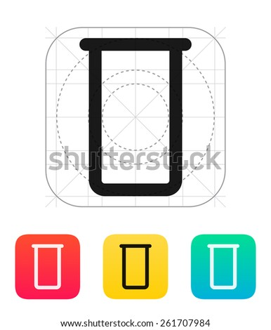 Lab flask icon on white background. - stock photo