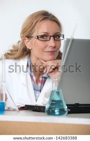 Lab technician - stock photo