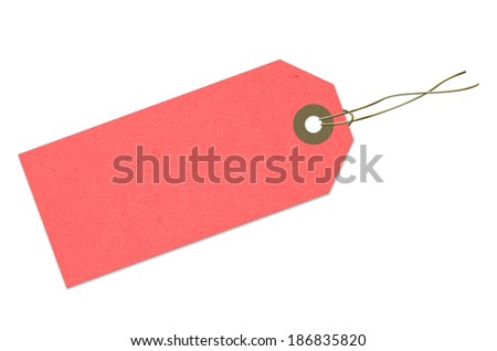Label, cardboard, paper, Red