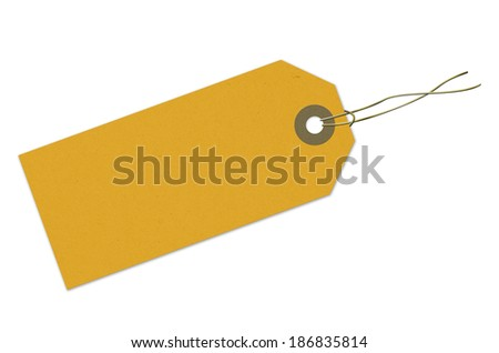 Label, cardboard, paper, yellow