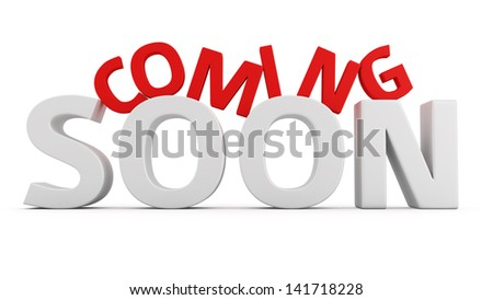 Label Coming Soon on white background - stock photo