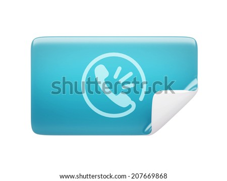 Label Contact Icon isolated on white