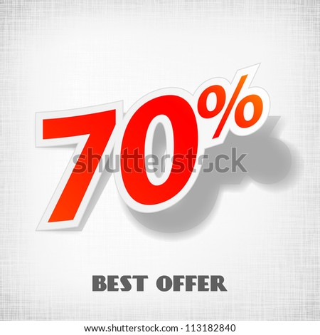 Label for special offers and sales discount. EPS10. Used effect transparency layers of shadow - stock photo