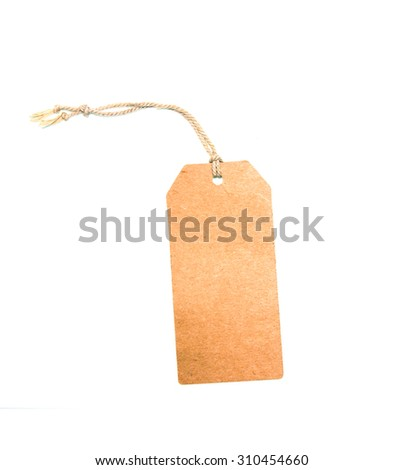 label isolated on white background