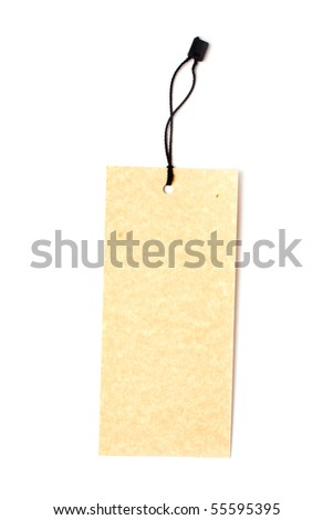 label on a white background for your illustrations - stock photo