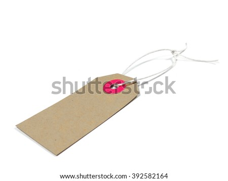 Label or price tag, isolated on white with copy space