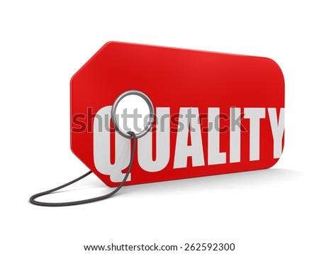 Label Quality - stock photo