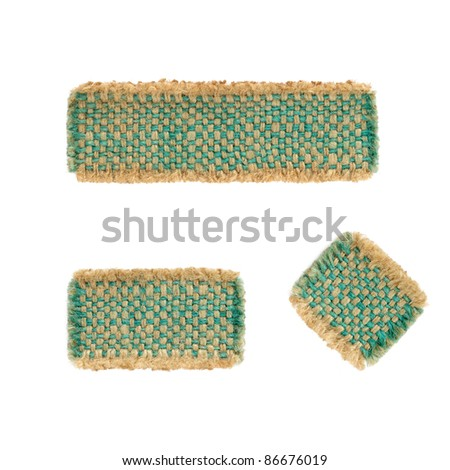 Label sackcloth - stock photo
